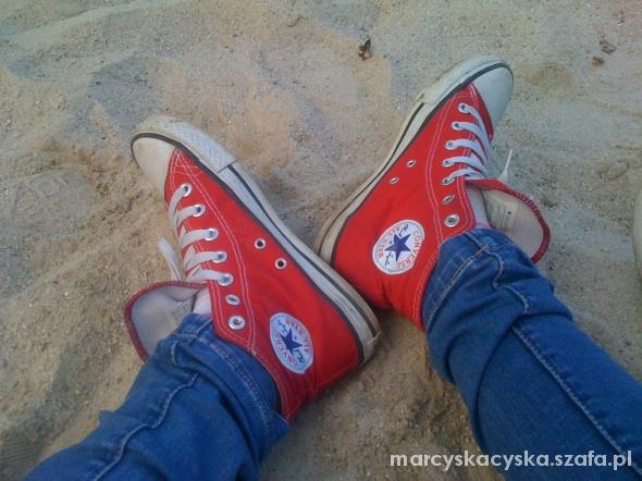 Trampki Czerwone trampki Converse