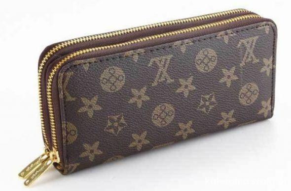 e2667b5388012 Duży podwójny portfel LOUIS VUITTON brązowy w Portfele - Szafa.pl