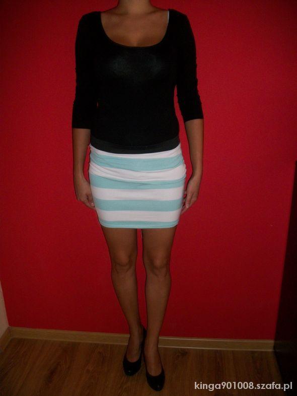 Spódnice Mini miętowo biała