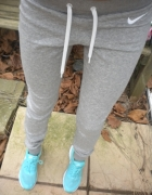 Nike legginsy dresy szare...