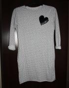 Sukienko tunika w serduszka