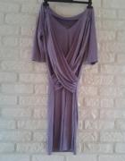 Happymum Sukienka ciążowa Shiny Violet dress 36