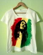 koszulka ręcznie malowana Bob Marley...