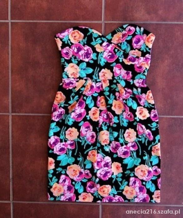 Ubrania Gorsetowa sukienka tuba tulipan New Look floral