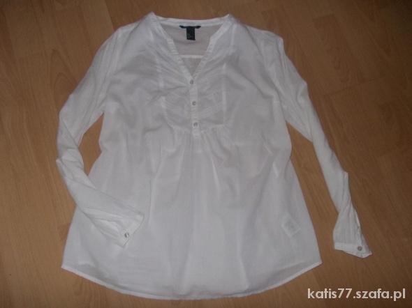 0be5e228a4 HM mama ciążowa biała koszula tunika w Tuniki - Szafa.pl