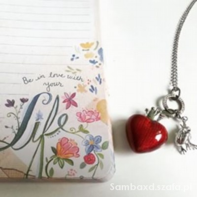 Biżuteria yes charms srebro serce korona żaba