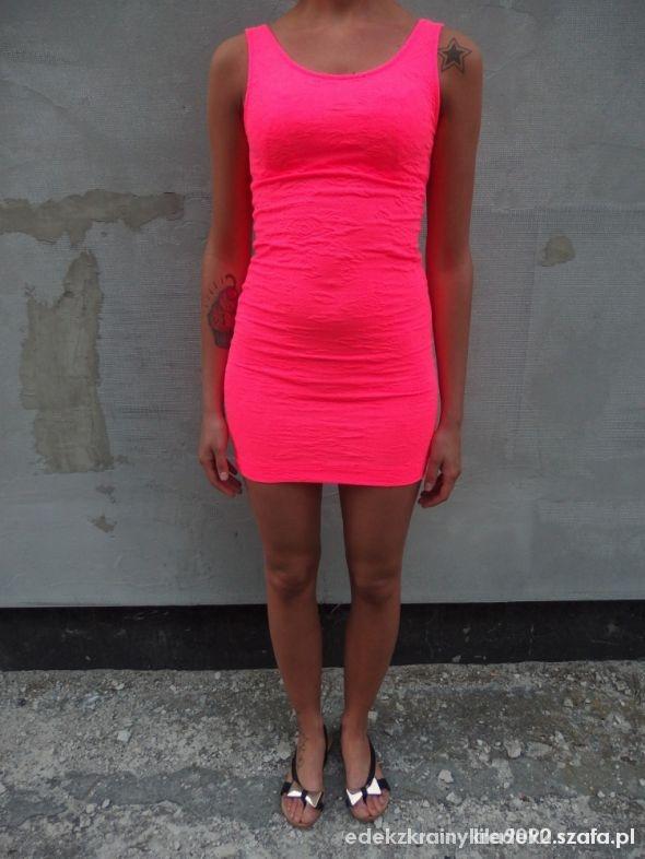 Sukienka neonowa HM...