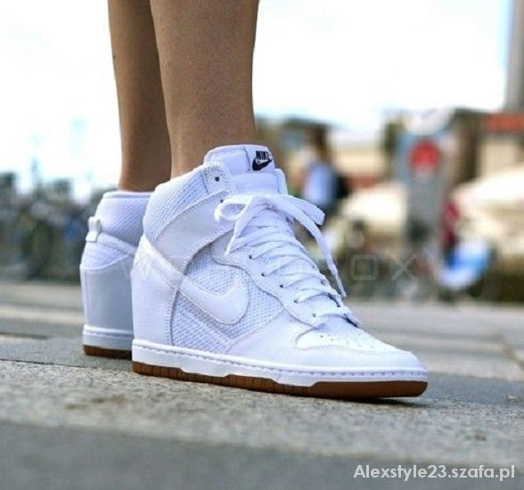 meet f628d 5182a Sportowe Nike dunk sky hi na koturnie