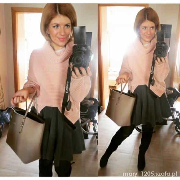 Mój styl jeszcze raz różowy sweter