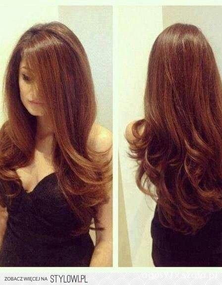 Długie Brązowe Włosy W Fryzury Szafapl