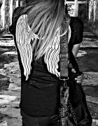 Rebellion tshirt burnout angel wings