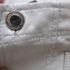 Skórzana spódnica perłowy połysk