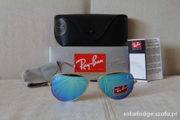RAY BAN 3025 Aviator okulary niebieskie 58 Pilotki