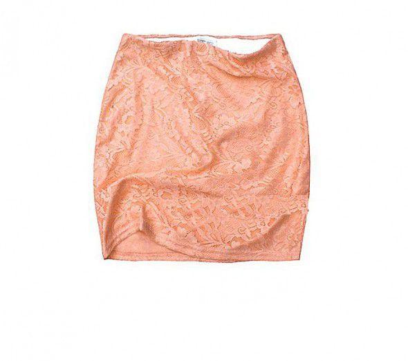 Spódnice Koronkowa spódniczka Piękna Morelowa xs