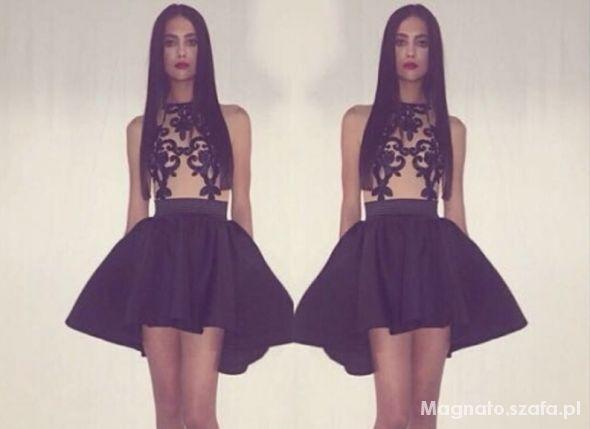 c953cba60f sukienka piękna studniówka nude czarna koronka w Suknie i sukienki ...