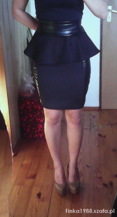 Spódnice Piankowa Baskinka z Ekoskórką