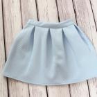 błękitna rozkloszowana spódniczka