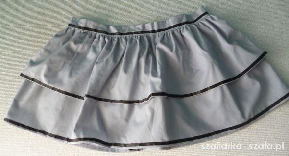 Spódnice XS S szara spódniczka biodrówka falbany tasiemka