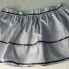 XS S szara spódniczka biodrówka falbany tasiemka