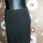 H&M spódnica 36 S czarna tłoczony wzór asymetryczn