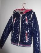 bluza kurtka pikowana fioltowa M