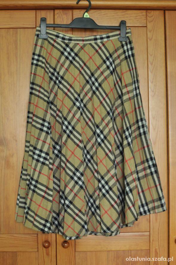 Spódnica długa kratka vintage