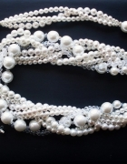 elegancko do ślubu perły i kryształki swarovski