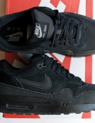 NIKE AIR MAX 1 Essential Black cool grey CZARNE