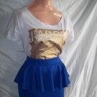 spódnica kobaltowa z baskinką Butik