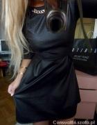Czarna rozkloszowana sukienka CUDO