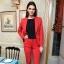 czerwony garniturek inspiracja