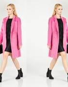 Różowy dwurzędowy płaszcz Mohito