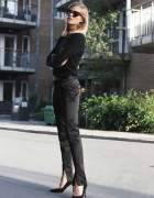 elegancko all black inspiracja...