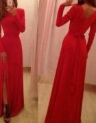 sukienka maxi czerwona taka sama