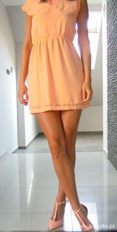 Romantyczne Szyfonowa sukienka