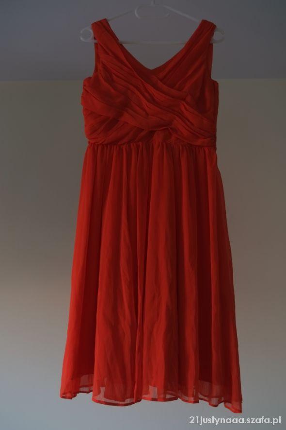 H &M sukienka koralowa nowa rozmiar 38