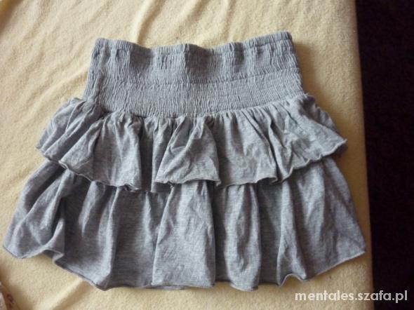 Spódnice szara spódniczka z falbankami