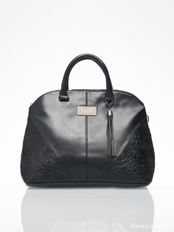898ca33473e45 Torebki na co dzień Torebka torba kuferek Mohito czarna skóra Shopper