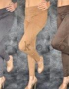 ZAMSZOWE BRYCZESY legginsy rurki NUDE 36 38