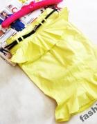 Asos limonkowa neonowa spódnica z baksinką