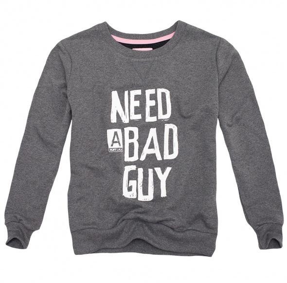 bluza szara need a bad guy plny lala