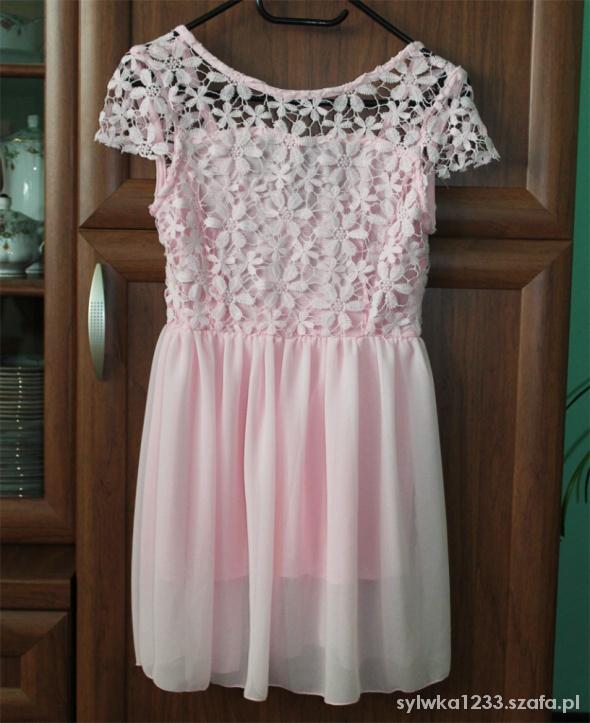 Suknie i sukienki nowa sukienka różowa XS S