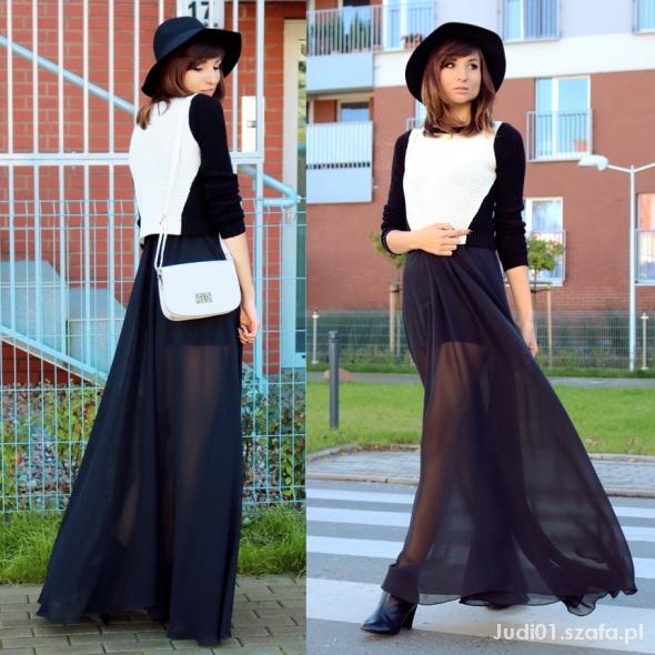 Blogerek Zwiewna spódnica maxi