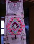 Aztecki Top Neonowy T shirt Aztec