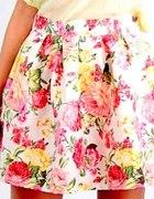Kontrafałdy spódnica kwiaty mini S M