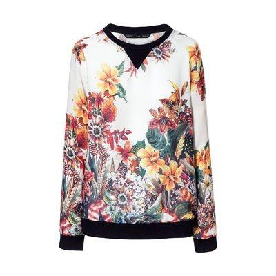 bluza w kwiaty zara