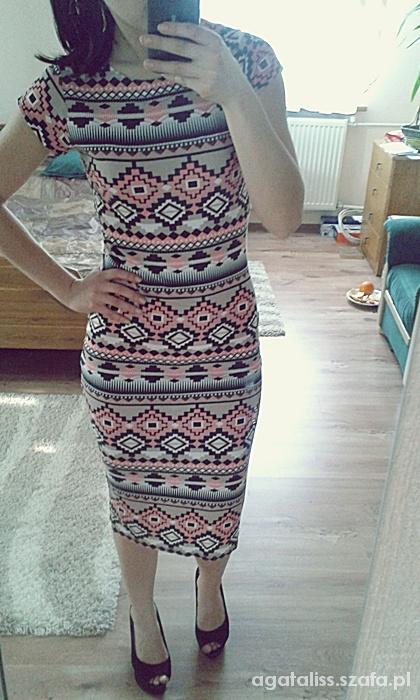 Mój styl sukienka aztec