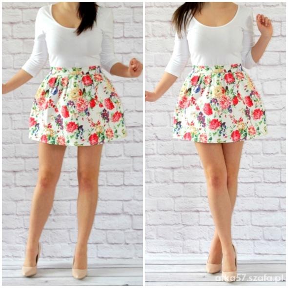 Spódnice spódniczka floral w kwiatki bombka kontrafałdy 36S