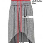 Długa Spódnica Asymetryczna Maxi Mini 34 36 XS S