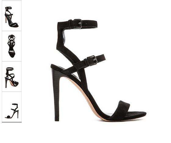 Szpilki sandały czarne